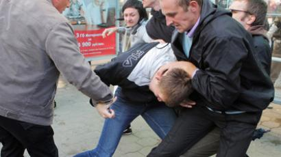 Around 200 people were arrested in Belarus as they attempted to hold silent protests (RIA Novosti / Sergey Samokhin)