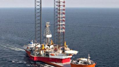 Drilling rig overturns in the Sea of Okhotsk