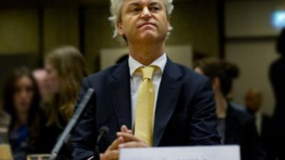 Netherlands, Amsterdam: Dutch politician Geert Wilders looks on during the reading of his verdict at an Amsterdam court on June 23, 2011 (AFP Photo/ANP/ Robin Utrecht)
