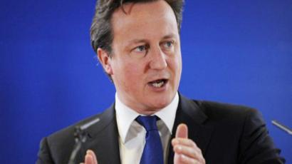 British Prime Minister David Cameron speaks during a press conference as part of an European Council at the Justus Lipsius building, EU headquarters in Brussels on October 23, 2011 (AFP Photo / Jean-Cristophe Verhaegen)
