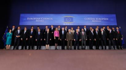 EU Leaders pose during a family photo after a meeting of European Union leaders in Brussels (AFP Photo / John Thys)