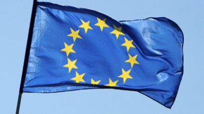 Berlin: A flag of the European Union. (AFP Photo / Jens Kalaene)