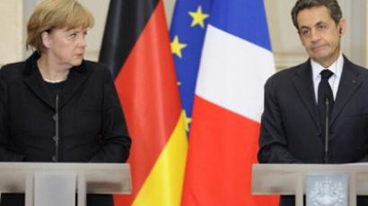 Angela Merkel and Nicolas Sarkozy (AFP Photo / Eric Feferberg)