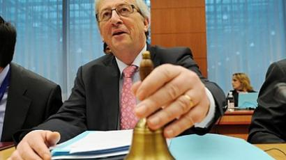 Luxemburger Prime minister and chairman of the Eurogroup Jean Claude Juncker at EU headquarters in Brussels. (AFP Photo/John Thys)
