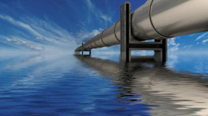Oil pipeline over water
