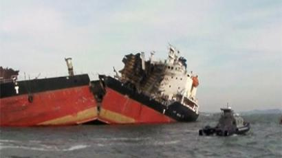 Five killed as explosion tears ship apart off Korean coast