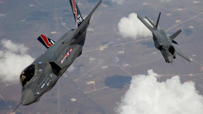 The F-35 Lightning II, also known as the Joint Strike Fighter (JSF), planes arrive at Edwards Air Force Base in California in this May 2010 file photo (Reuters/Tom Reynolds/Lockheed Martin Corp/Handout)
