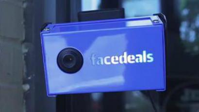 A Facedeals camera. Image by Redpepper