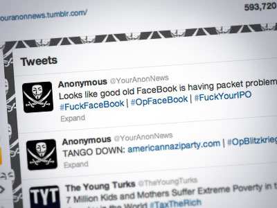 Screenshot of Twitter user @YourAnonOps