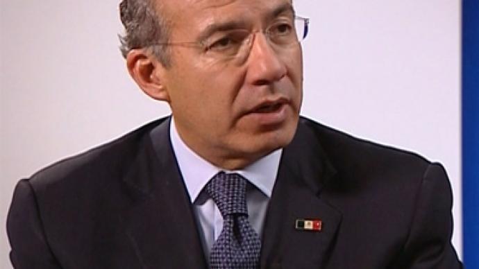 US drug addiction impedes Mexican growth – President ... Felipe Calderon