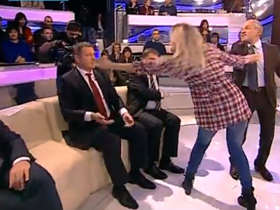 Barely a scuffle: FEMEN girl attacks MP