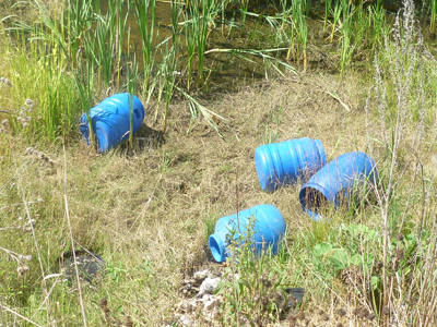 The four 50-liter canisters each containing a large number of human embryos found in the Sverdlovsk Region (RIA Novosti)