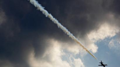 Spectacular airborne displays were dampened by rain (RIA Novosti / Valery Melnikov)