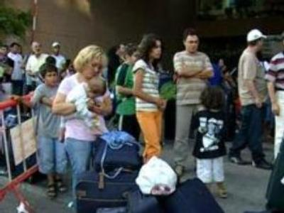 Flight from the bombings: evacuation gathers pace