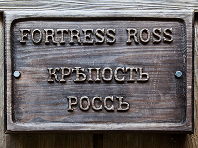 The first Russian settlement in California, Fort Ross. (Image from flickr.com user@Jeremy Brooks)