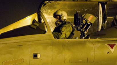 A picture released by the French Army Communications Audiovisual office (ECPAD) on January 13, 2013 shows a French army pilot aboard a French Rafale jet fighter late on January 12, 2013.(AFP Photo / Ecpad Laure-Anne Maucorps)