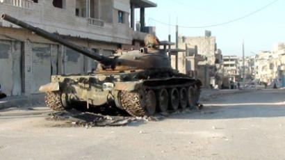 Syria's army tank (AFP Photo / STR)