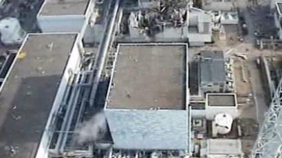 An aerial view of the 4 reactor building of TEPCO's No.1 Fukushima nuclear power plant at Okuma town in Fukushima prefecture (AFP Photo / HO / TEPCO)