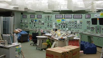 JAPAN, OKUMA : This handout picture, released by Tokyo Electric Power Co (TEPCO) on March 24, 2011 shows the central control room of the first reactor of TEPCO's Fukushima Daiichi (No. 1) atomic power plant at Okuma town in Fukushima prefecture (AFP Photo)