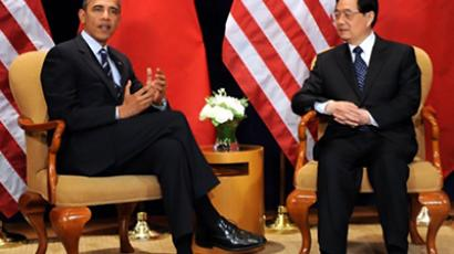 Barack Obama (L) and Hu Jintao (AFP Photo / Tim Sloan)