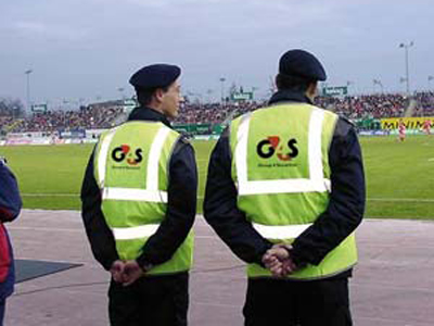 Well-trained staff? G4S security guards at work.