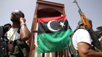 Libyan NTC fighters (AFP Photo / Patrick Baz)