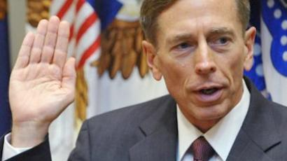 United States, Washington : General David Petraeus takes the oath of office as the next director of the Central Intelligence Angency on September 6, 2011. (AFP Photo / Mandel Ngan)