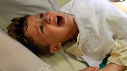 A boy cries as he is circumcised at Birtraria Hospital in Algiers September 5, 2010. Muslim boys aged between 2 - 5 years old are commonly circumcised a day before Laylat Al Qadr (the holiest night of Ramadan), as part of a religious tradition in Algeria (Reuters/Zohra Bensemra)