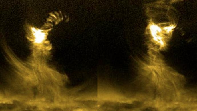 sun tornado captured by nasa - photo #10