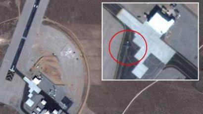 Images posted on Google Maps reveal a secret air base in Yucca Lake, Nevada, where drones (circled) and the top secret RQ170 are reportedly tested.