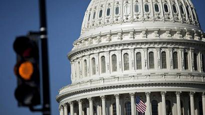 Washington: A view of the US Capitol Building on Capitol Hill April 6, 2011 in Washington, DC. (AFP Photo/Brendan Smialowski)