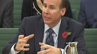A video grab image shows Starbucks Chief Financial Officer Troy Alstead addressing the Public Accounts Committee (PAC), in London November 12, 2012 (Reuters / UK Parliament)