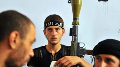 Ready for democracy? Syrian rebels. (AFP photo / Bulent Kilic)