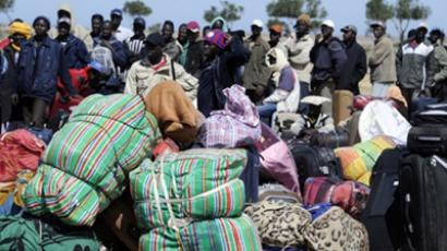 Libyan refugees (AFP Photo / Dominique Faget)