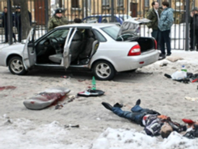 At the site of the blast (AFP Photo / Alexander Drozdov)