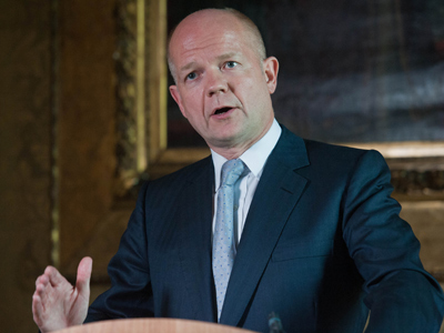 British Foreign Secretary William Hague (AFP Photo / Will Oliver)