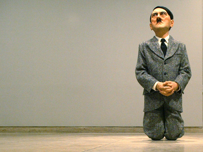 "The sculpture ""Him"" by artist Maurizio Cattelan is pictured at the ""Haus der Kunst"" art museum in Munich (Reuters)"