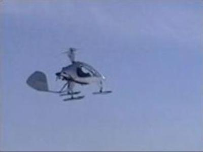 Homemade helicopter takes to the sky