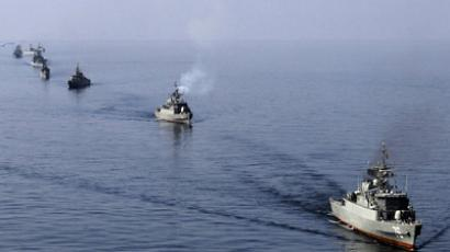 File photo shows Iranian Navy boats taking part in maneuvers near Strait of Hormuz. (Reuters)