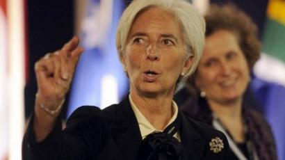 IMF chief Christine Lagarde. (AFP Photo / Lionel Bonaventure)