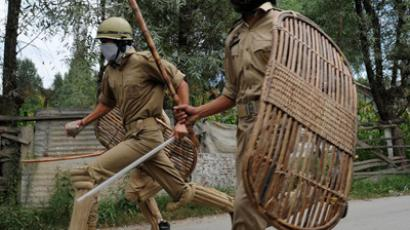 Bamboo shields and batons are already common in the Indian security forces