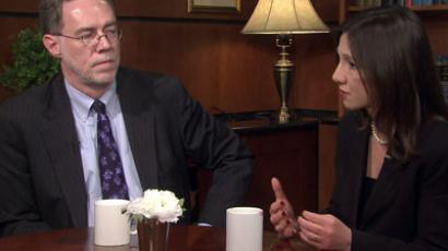 US analysts Flynt Leverett and Hillary Leverett. Still from the interview.