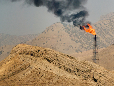 An oil field near Pol-e-Dokhtar, Iran