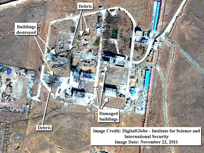 Sabotage? Sat-pic shows Iran missile base devastation