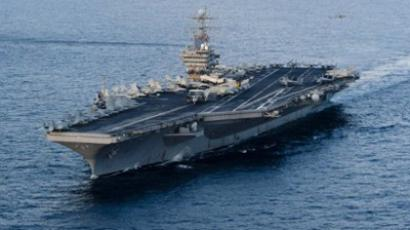 US Navy in military build-up to battle Strait of Hormuz 'blockade'
