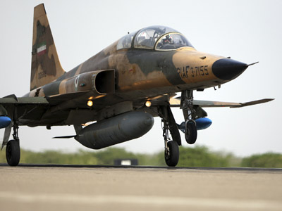 An Iranian AirForce F-5F fighter plane (Reuters/Fars News)