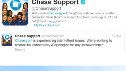 Tweet by Chase Bank