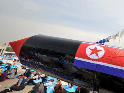 A mock North Korean missile at the War Memorial of Korea in Seoul (AFP Photo / Kim Jae-Hwan)