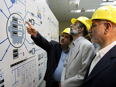 The Bushehr nuclear power plant in the Iranian Persian Gulf port of Bushehr. (AFP Photo)