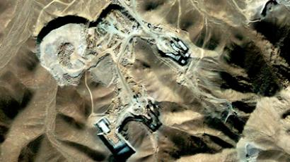 Satellite photograph of suspected uranium-enrichment facility near Qom (Reuters / DigitalGlobe / Handout)